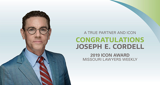 Joe Cordell Receives Missouri Lawyers Weekly ICON Award 1