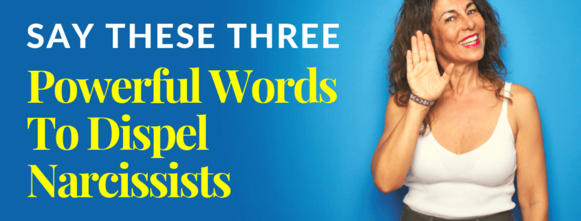 Say These Three Powerful Words To Dispel Narcissists – Not My Reality