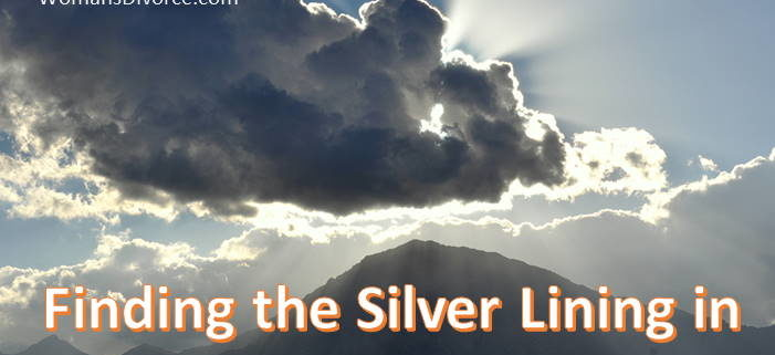 Finding the silver linings in divorce as depicted by the streaks of light shining through the clouds