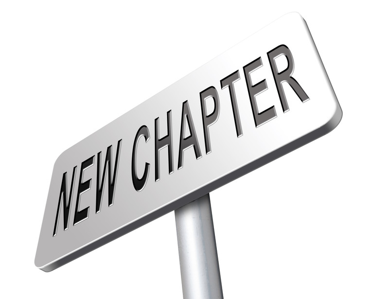 new chapter in my life: road sign that says new chapter