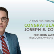 Joe Cordell Receives Missouri Lawyers Weekly ICON Award